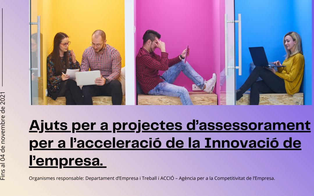 Convocatòria de subvencions per a projectes d'assessorament per a l'acceleració de la innovació de l'empresa